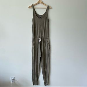Aerie olive green long romper/ jumpsuit